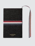 Thom Browne Pebble Grain Leather Small Notebook with RWB Stripe Picture