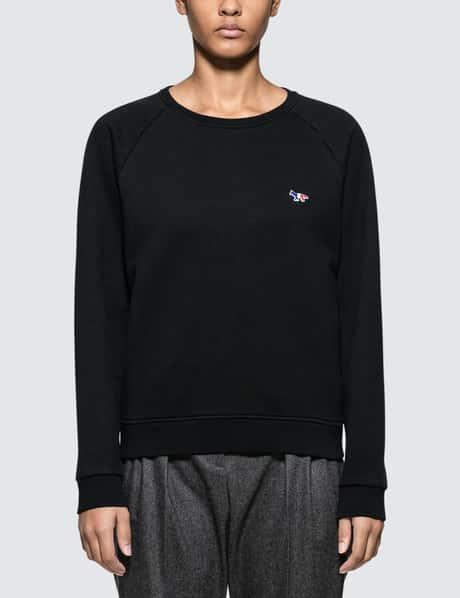메종 키츠네 Maison Kitsune Tricolor Fox Patch Sweatshirt
