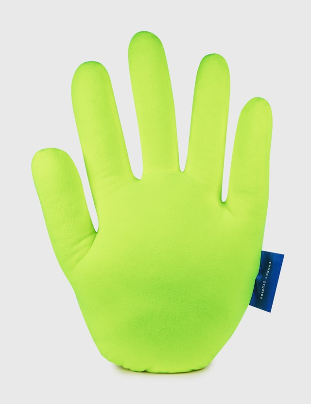 Crosby Studios Neon Green Hand Pillow Yellow Unisex
