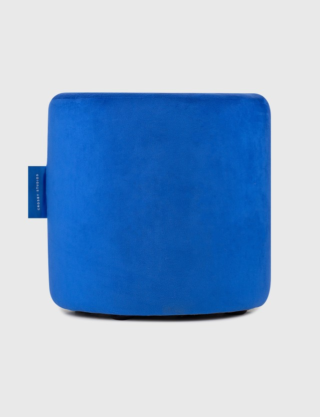 Crosby Studios Blue Velvet Ottoman Blue Unisex