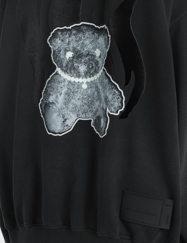 We11done Glow-in-the-dark Teddy Sweatshirt Black Women