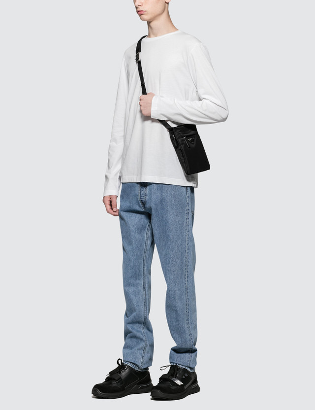 Helmut Lang Straight Leg Washed Jeans