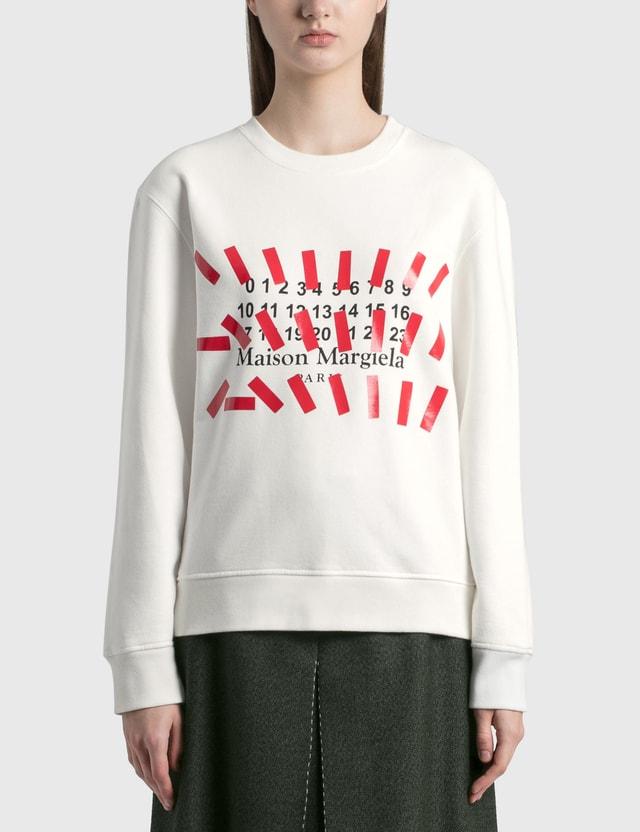 Maison Margiela Numbers Sweatshirt Off White Women