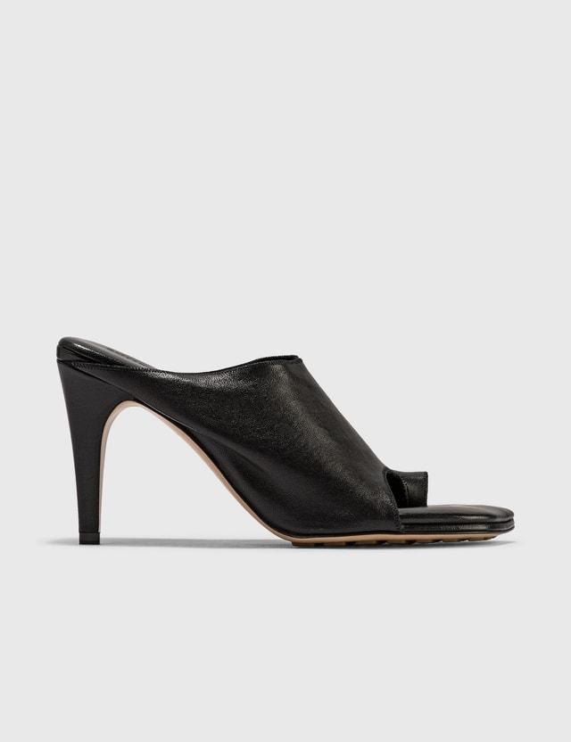 Bottega Veneta Square Toe Sandals Nero Women