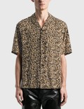 Saint Laurent Leopard Print Camouflage Shark Collar Shirt 사진