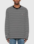 Maison Kitsune Tricolor Fox Stripe Long Sleeve T-Shirt Picture