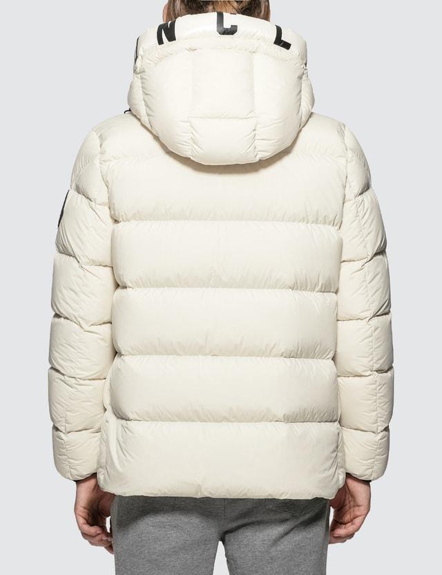 Moncler Nylon Down Jacket with Logo Hood