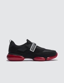 Prada Cloud Bust Contrast Velcro Sneaker Picutre
