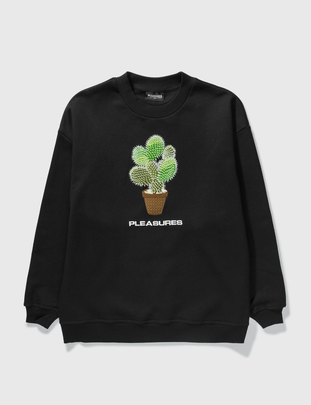 Pleasures Spike Embroidered Crewneck Black Men