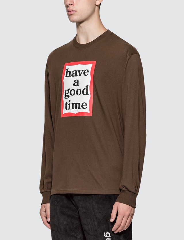 Have A Good Time Frame Long Sleeve T-shirt Chocolate Men