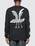 Sasquatchfabrix. Crow Long Sleeve T-shirt Picture