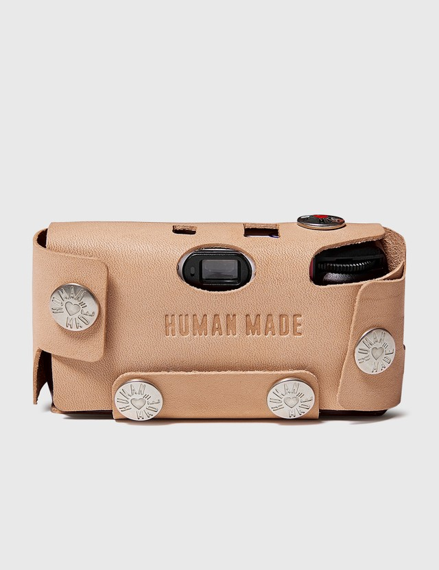 Human Made Leather Camera Case #F Beige Unisex