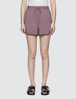 Ganni Cotton-blend Stripe Shorts