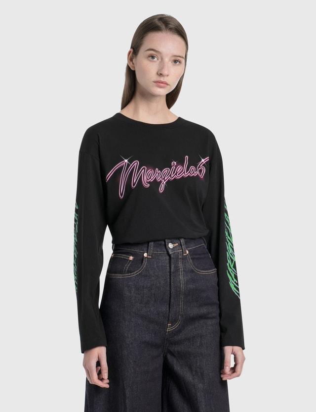 MM6 Maison Margiela Margiela 6 Neon Logo Long Sleeve T-Shirt