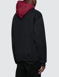 Alexander Wang Compact Fleece Two Tone Logo Hoodie