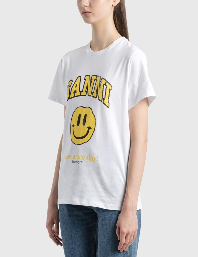 Ganni Smiley Printed T-Shirt