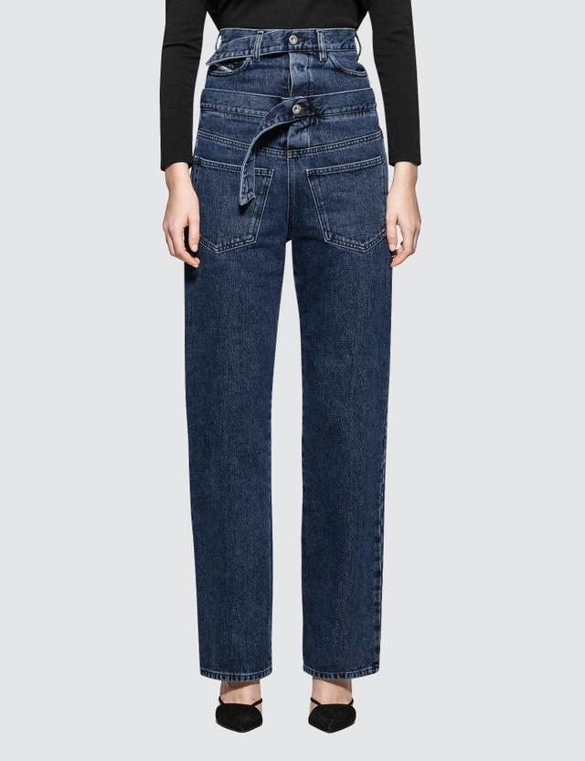 Diesel Red Tag Embedded Belt Jeans