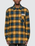 Acne Studios Logo Patch Flannel Overshirt Picutre