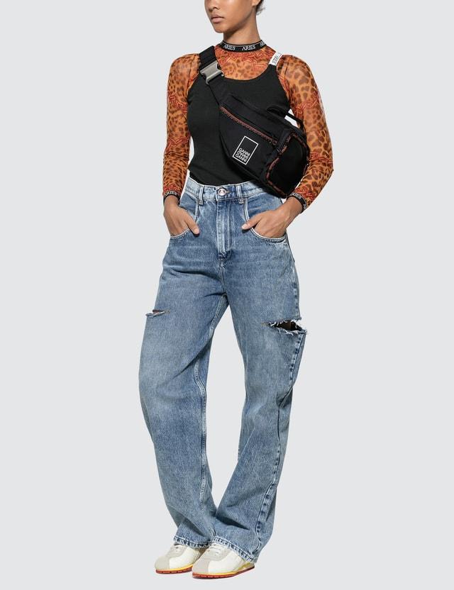 Ganni Tech Fabric Fanny Pack