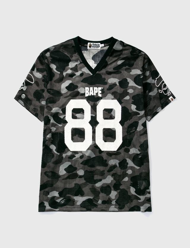 BAPE Bape Football Mesh Ss T-shirt Black Archives