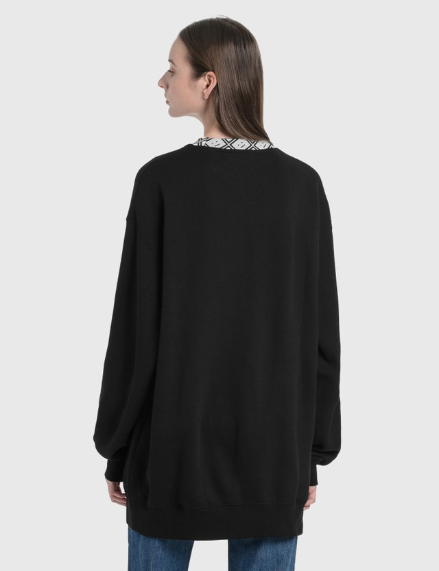 Acne Studios Future Rib Face Sweatshirt Black Women