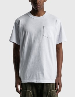 Sacai Side Zip Cotton T-shirt