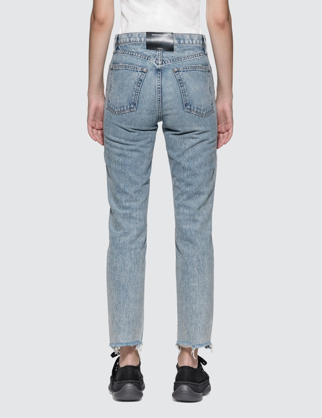 Alexander Wang.T Cult Side Zip Vintage Wash Indigo Jeans