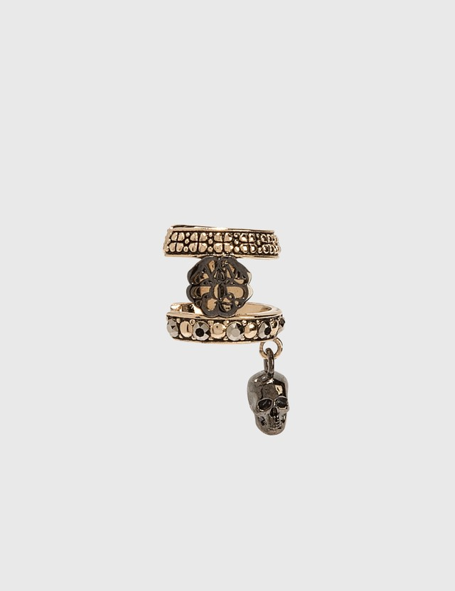 Alexander McQueen Skull and Charm Seal Ear Cuff Mix Women