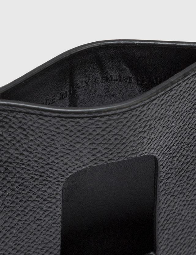 Maison Margiela Pebble Grain Leather Card Case Black Men