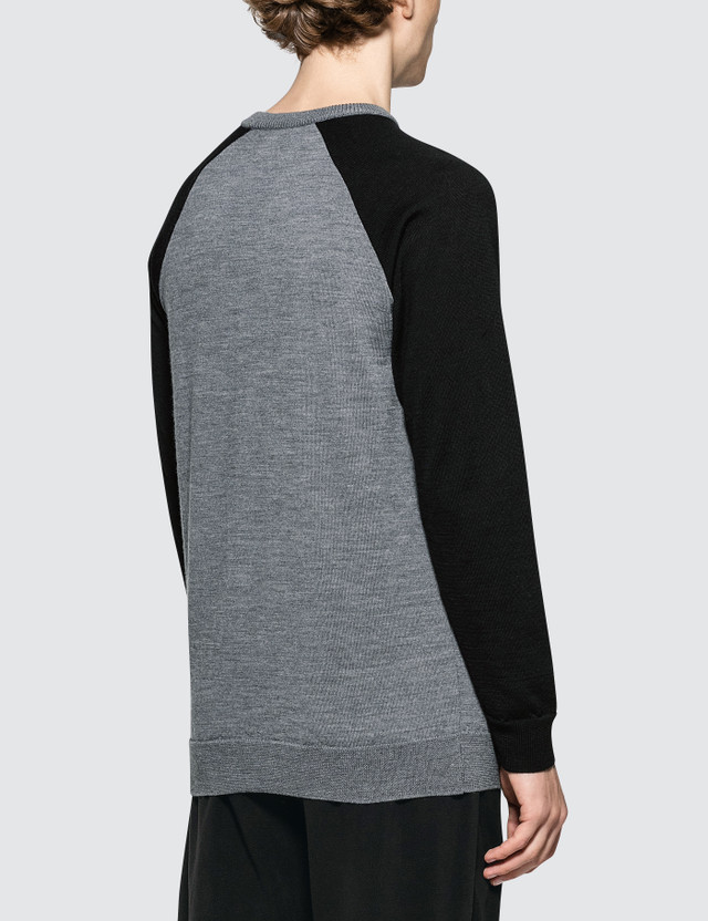 Denim By Vanquish & Fragment Bicolor Raglan Sleeve Sweater