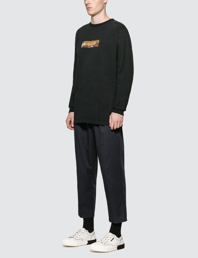 SOPHNET. Box Logo Long Sleeve T-shirt