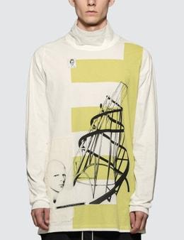 Rick Owens Drkshdw Tatlin's Tower Print L/S T-Shirt