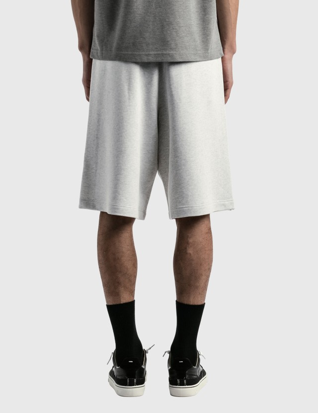 Moncler Cotton Sweat Shorts Grey Men
