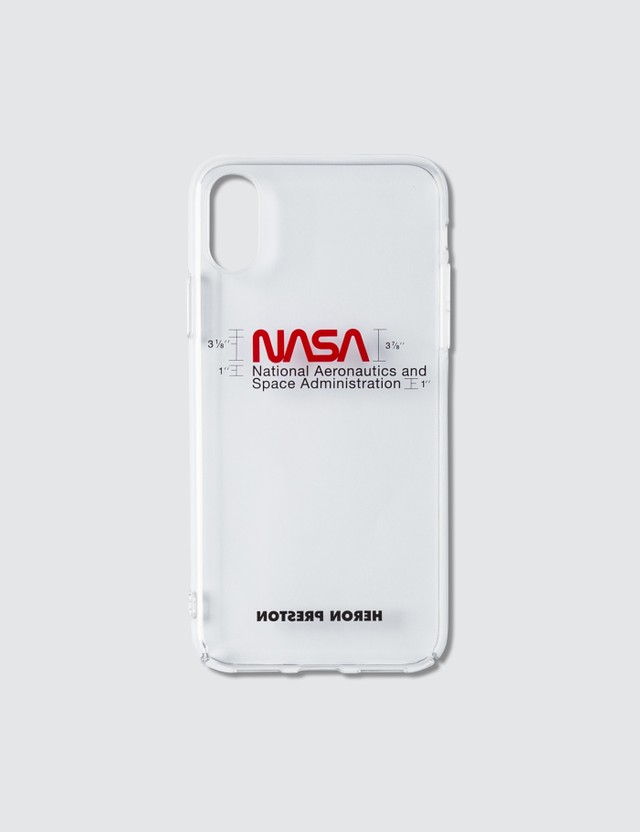 Heron Preston NASA Iphone XS Case Transparent Unisex