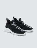 Prada Logo Knit Sneakers
