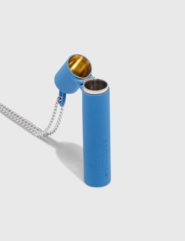 Ambush Pill Case Necklace Blue Men
