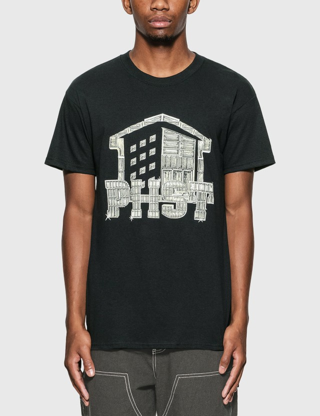 Public Housing Skate Team Shine Logo T-Shirt Black Men