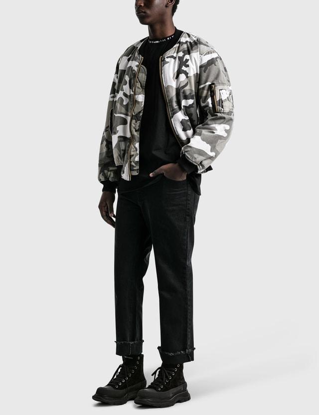 Fostex Garments Repro Vintage Wash MA-1 Bomber Jacket Black Men