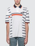 Martine Rose Striped Polo Shirt Picture
