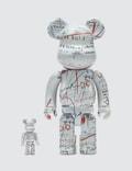 Medicom Toy Jean-Michel Basquiat Bearbrick 100% + 400% Set (ver. 2) Picture