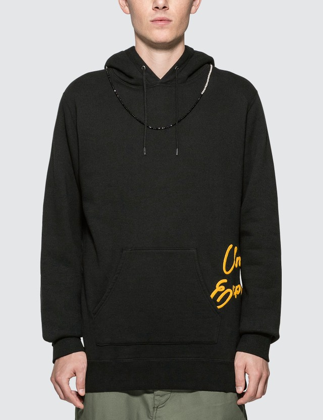uniform experiment Beads Code Embroidery Hoodie Black  Men