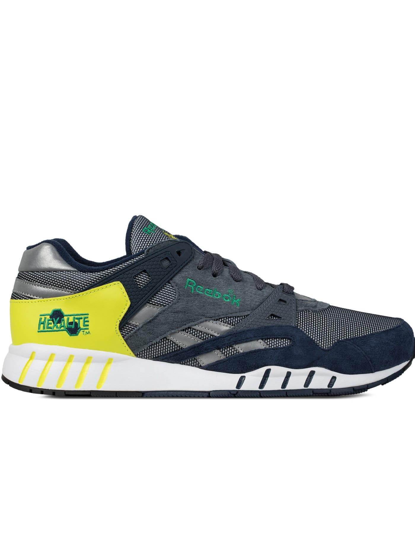 Reebok - Collegiate Navy/Graphite/Hyper Green/Green Sole-Trainer Sneakers