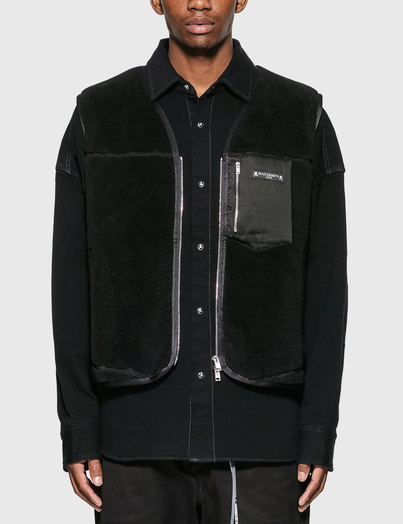 Mastermind World Stretch Denim Shirt With Vest