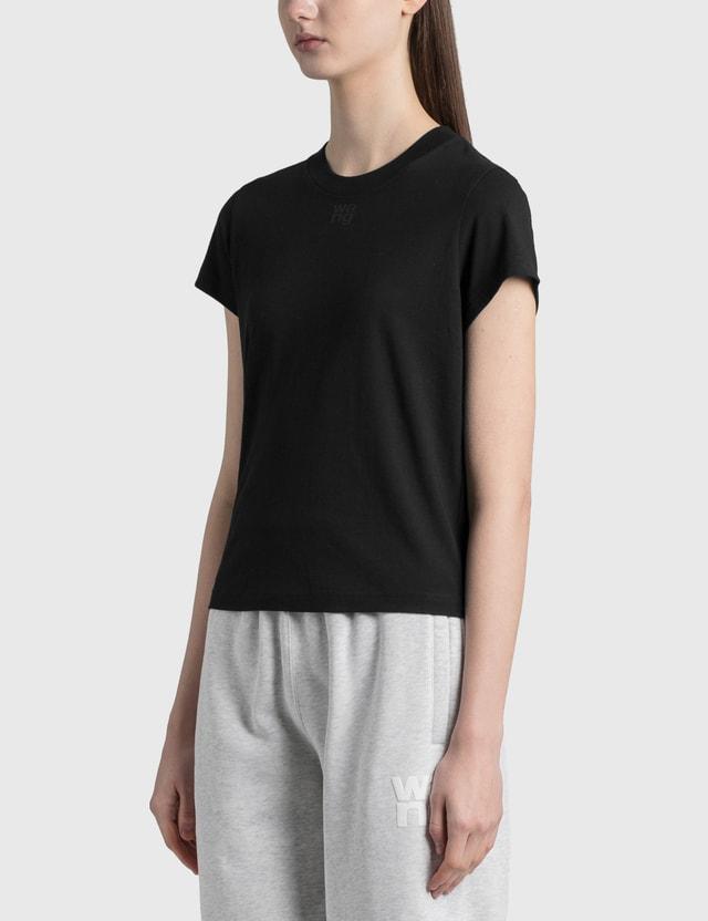 Alexander Wang.T Shrunken Logo T-Shirt Black Women
