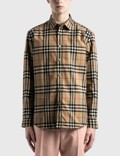 Burberry Check Cotton Poplin Shirt 사진