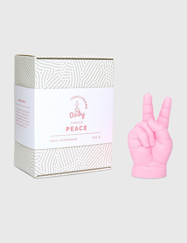 Candle Hand PEACE Baby Hand Candle Pink Unisex