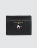 Maison Kitsune Tricolor Leather Card Holder Picture