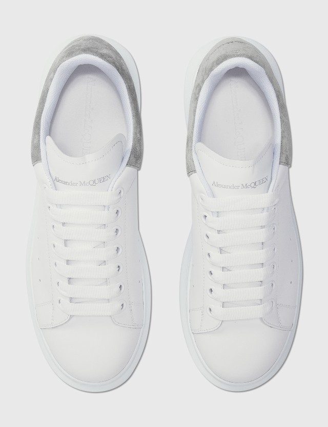 Alexander McQueen Oversized Sneaker Whi/battleship Grey Men