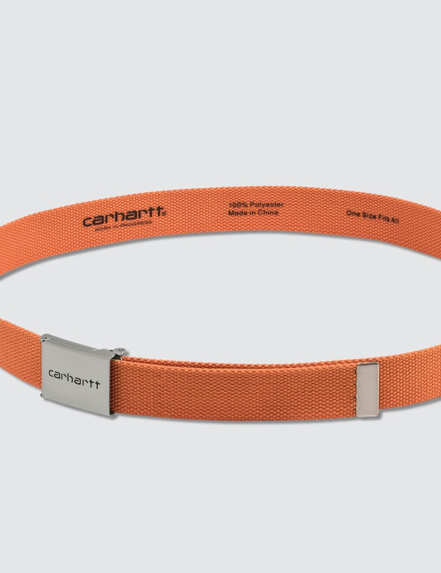Carhartt Work In Progress Clip Belt Chrome Clockwork Men