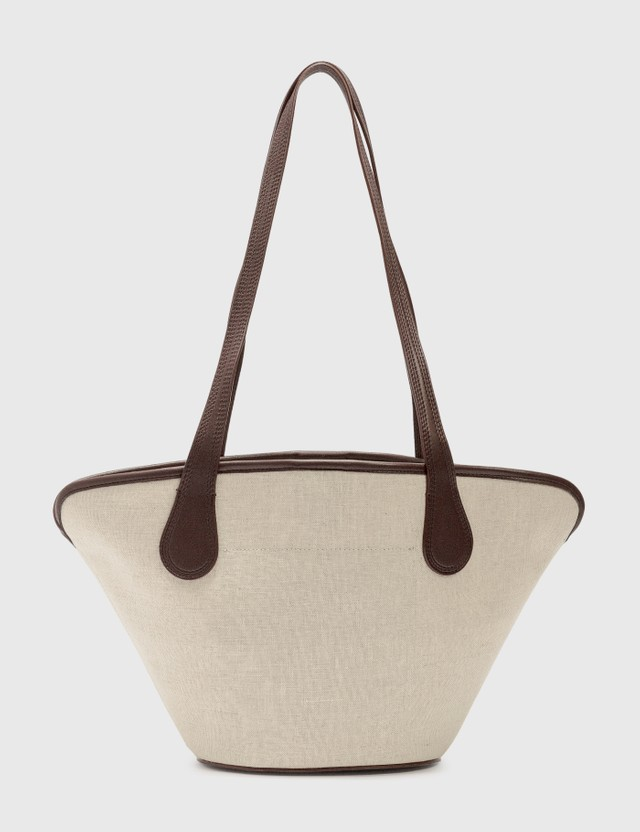 Nanushka Winged Juno Bonded Canvas Bag Natural Women